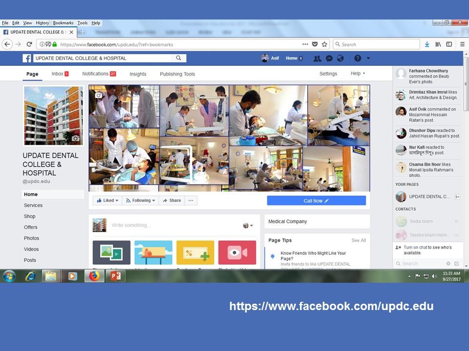 Facebook page-